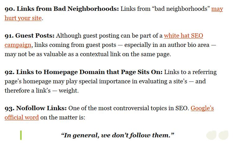 ranking factors post