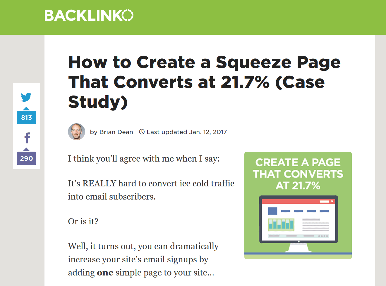 social squeeze page post