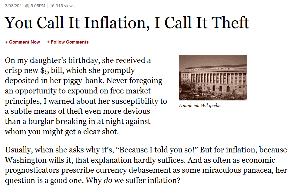 inflation article