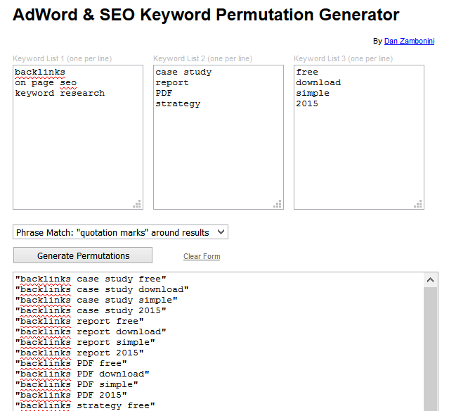 keyword permutation tool