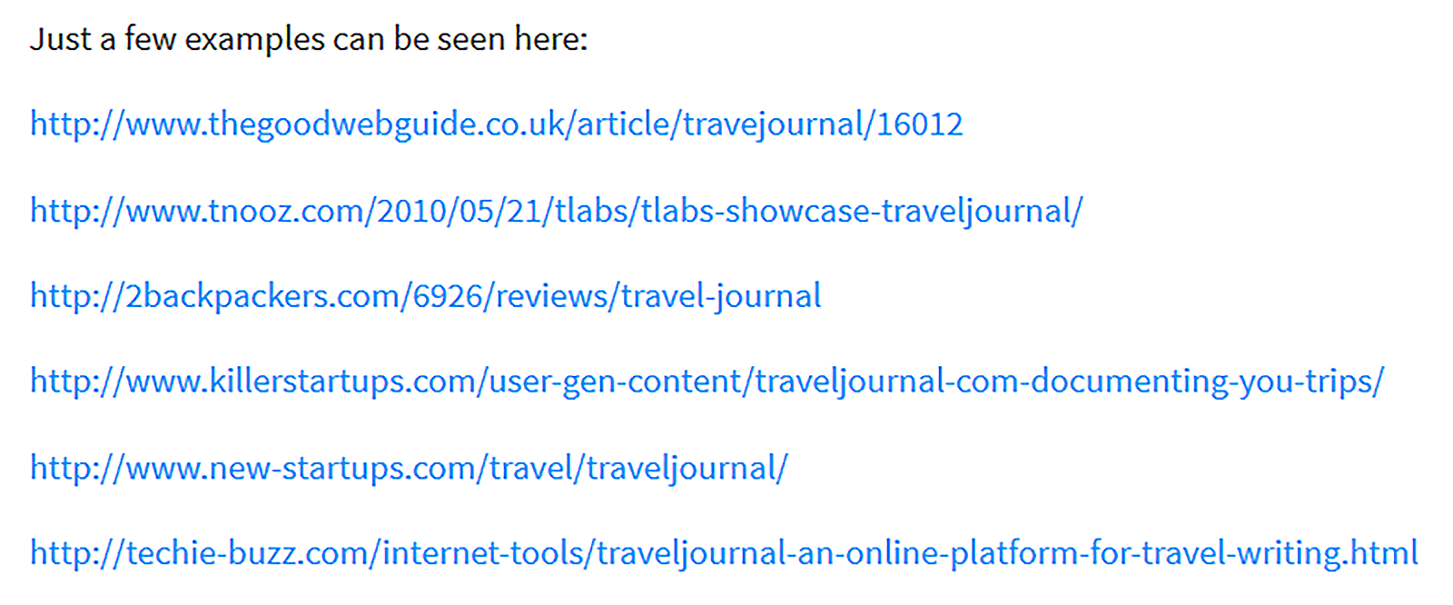 Editorial link list