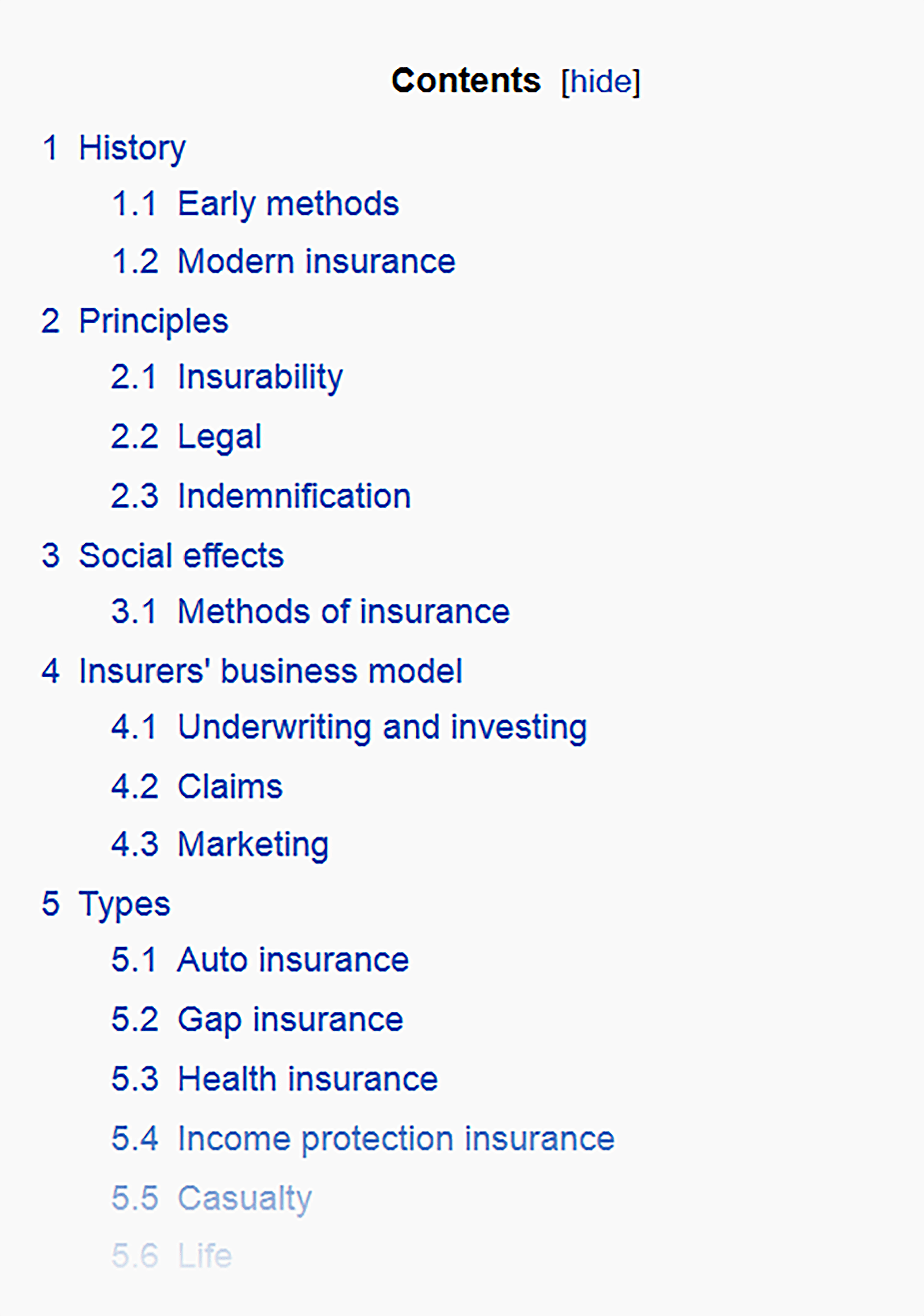 Wikipedia – Table of contents