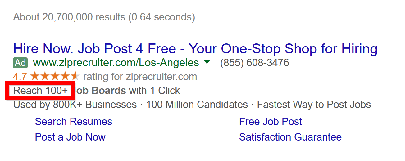 adwords with a number