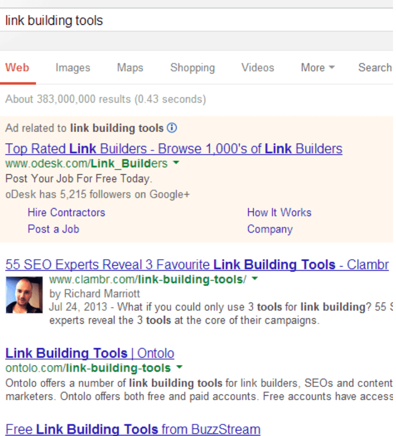 old google search results
