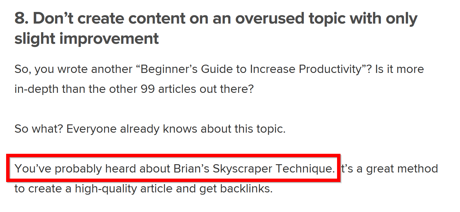 mention in a blog post
