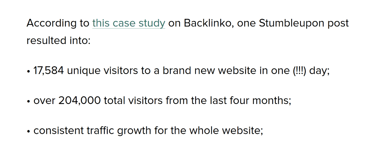 Case study: Stumbleupon