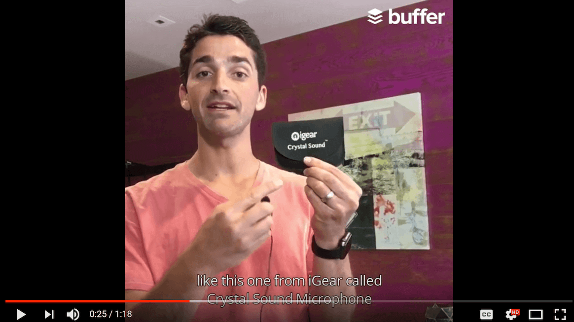 Buffer unscripted video