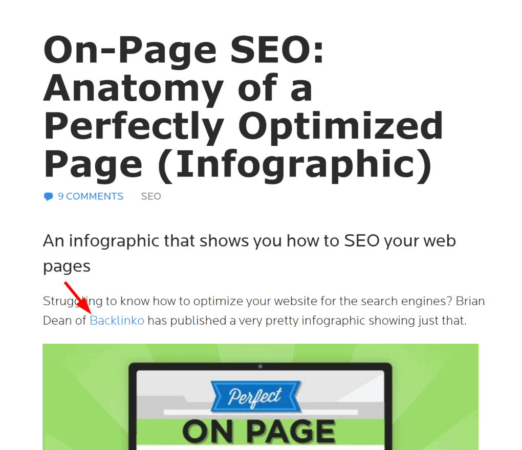 Infographic backlink