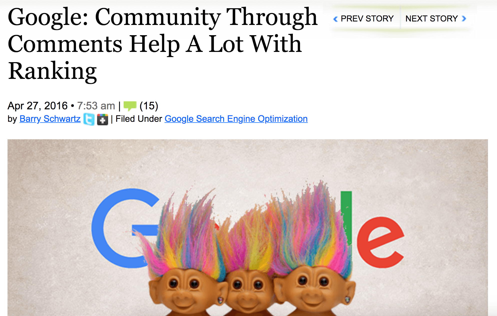 Community Through Comments Help A Lot With Ranking