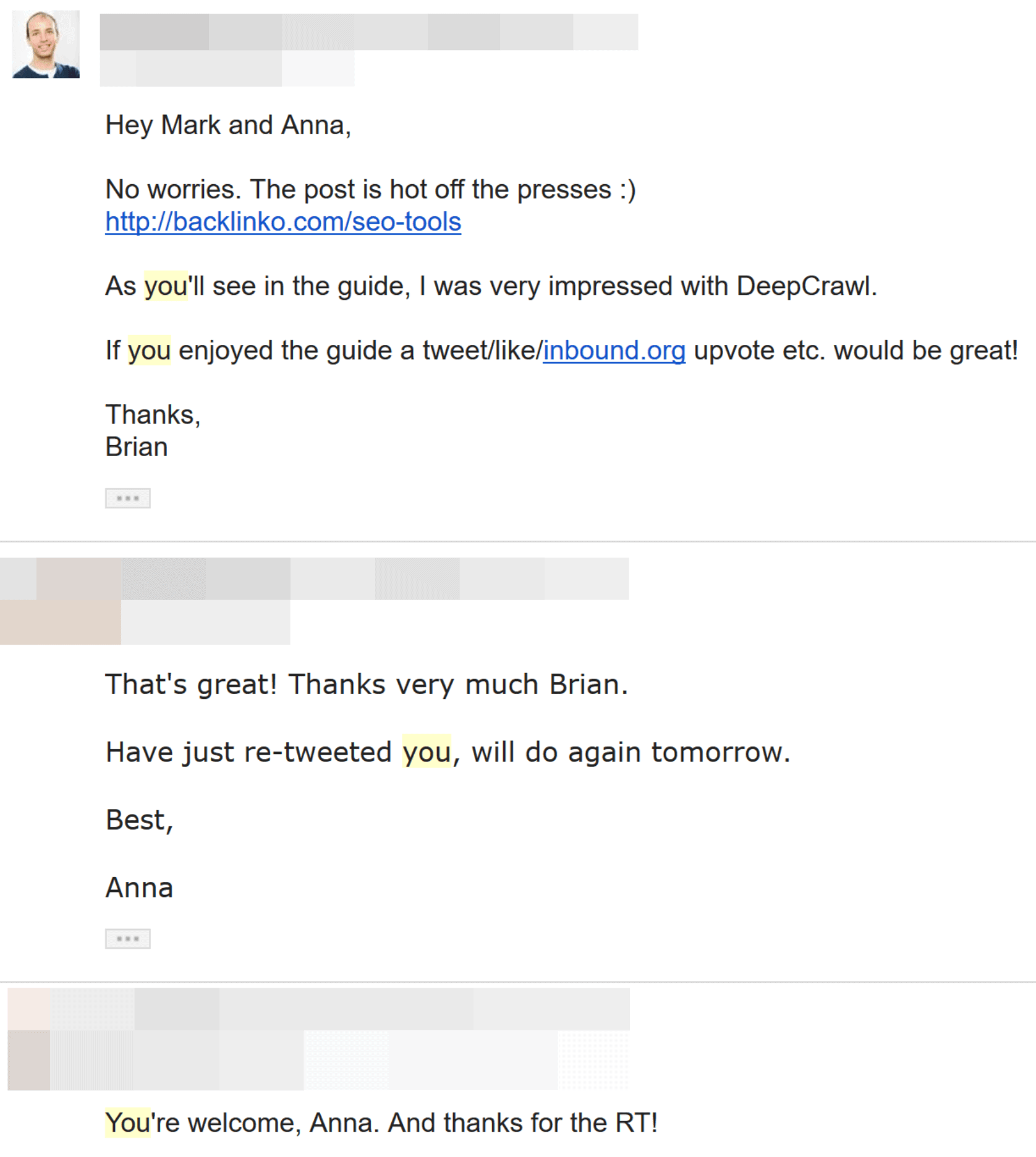 outreach email