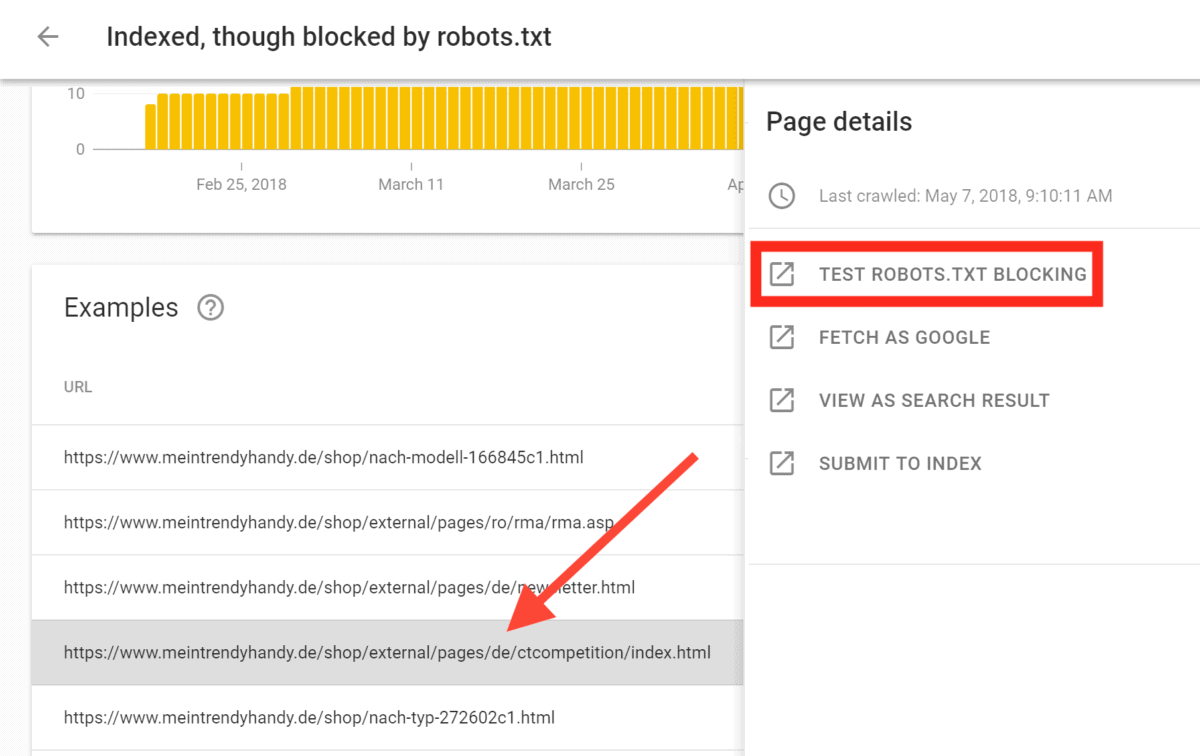 Robots blocking