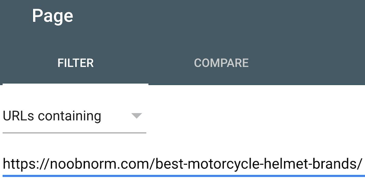Enter page URL