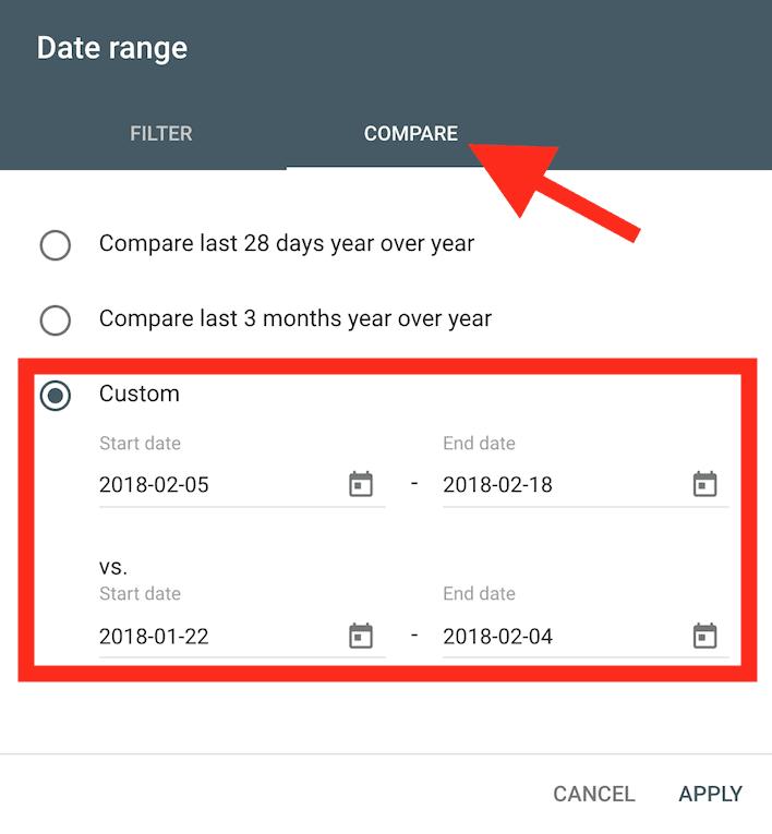 Compare date range