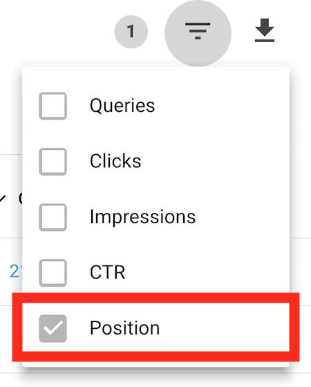 Position filter