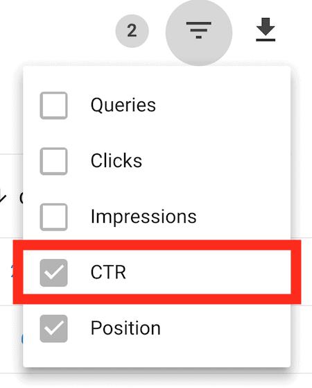 Filter CTR