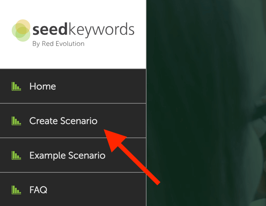 Seedkeywords create scenario