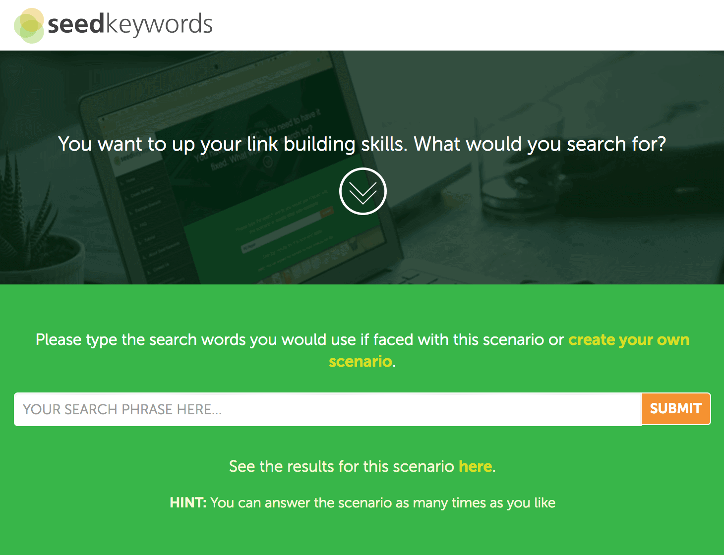 Seedkeywords link clicked