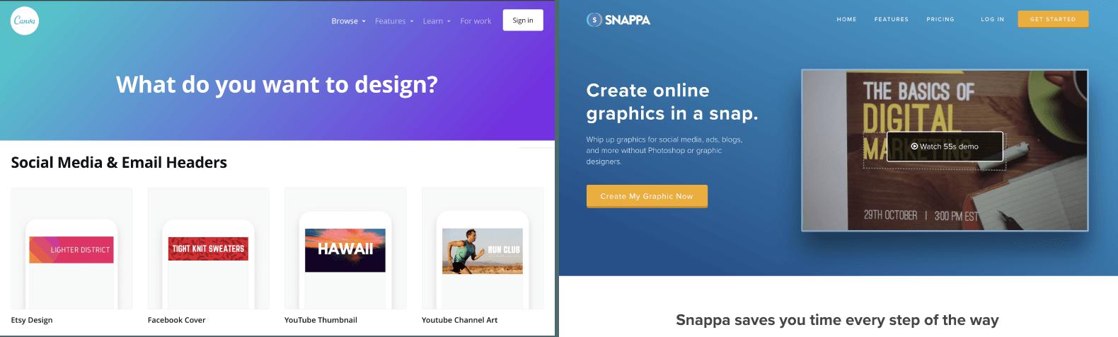 Canva + Snappa