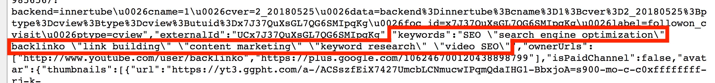 Channel keywords