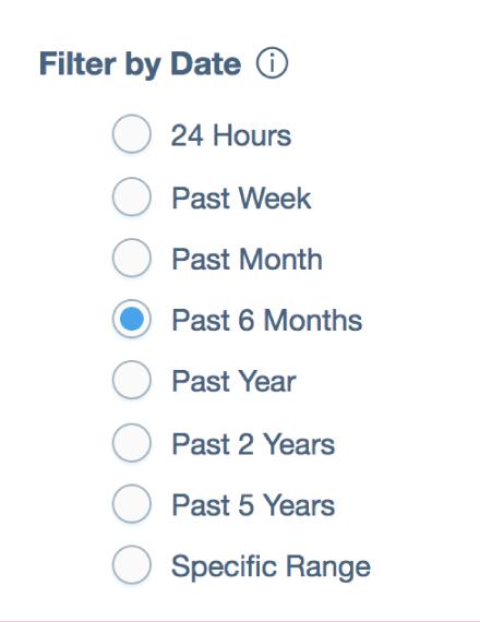 Adjust date range