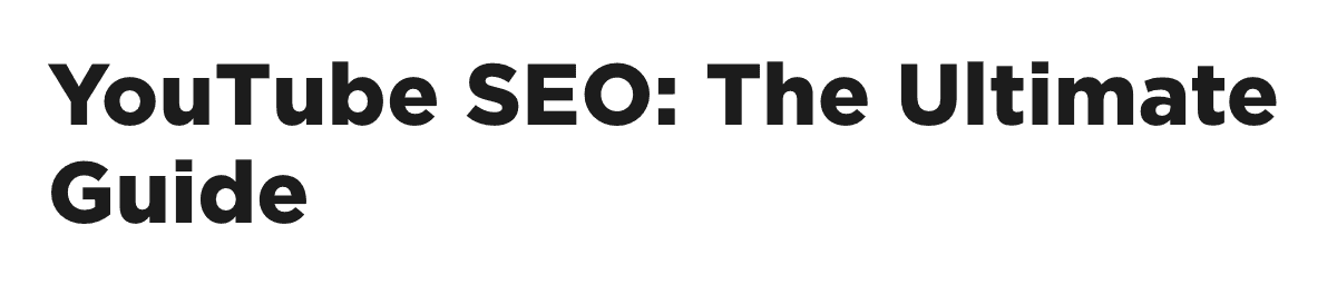 YouTube SEO – Old title