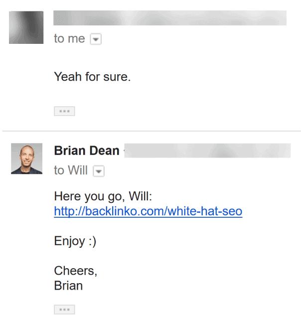 Outreach reply
