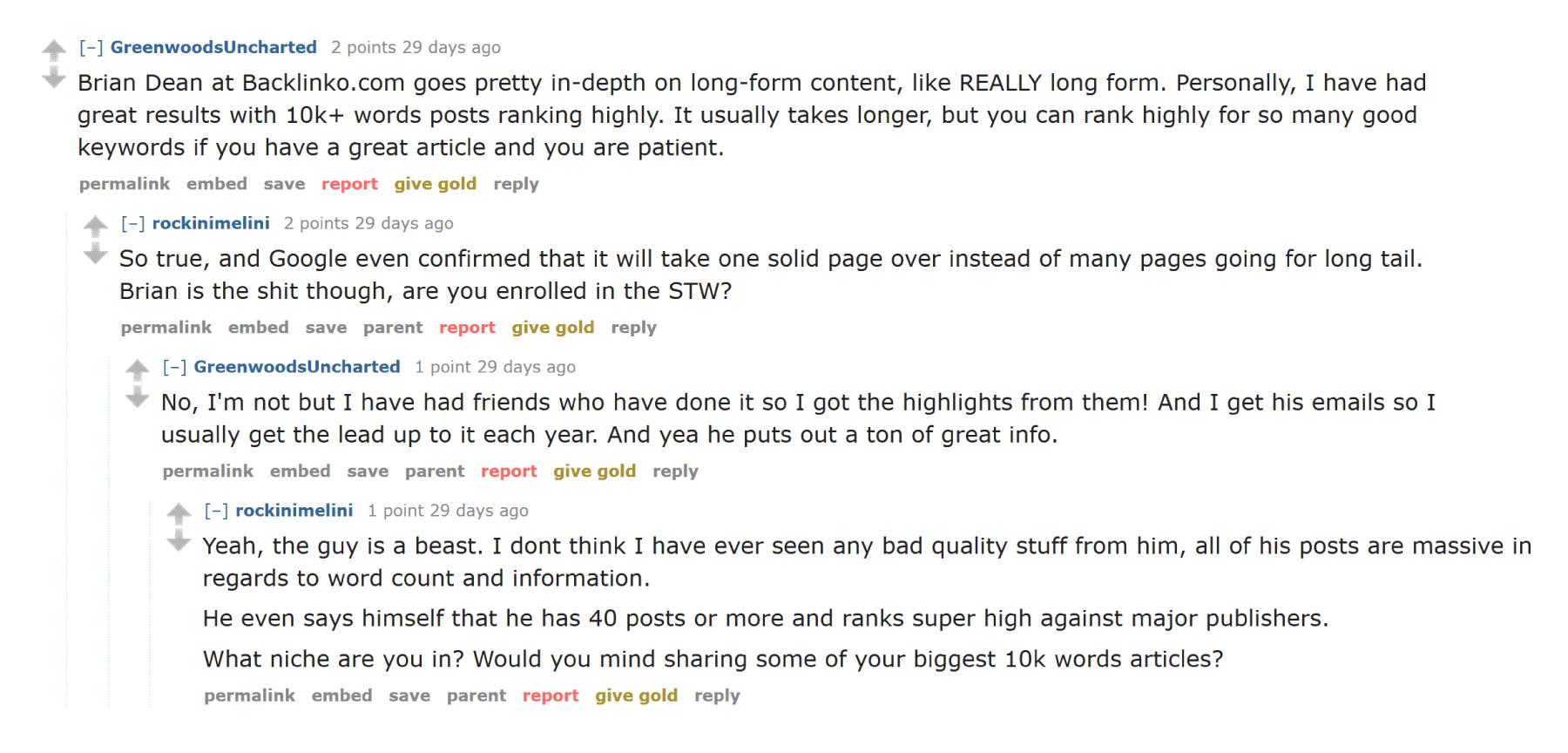 Reddit positive conversation