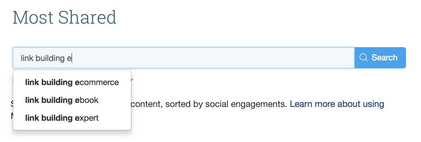 BuzzSumo suggest more