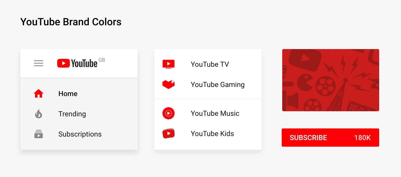 YouTube brand colors