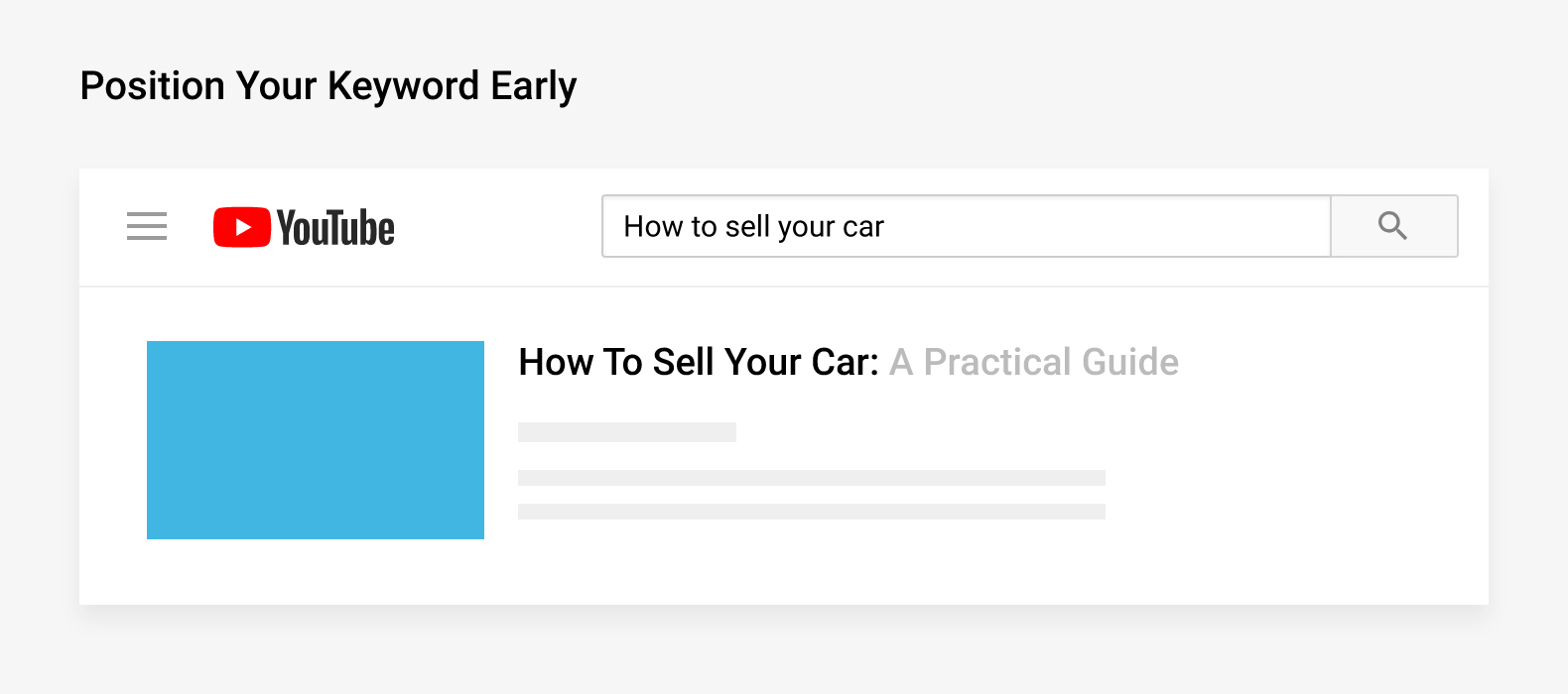 Position your keyword early
