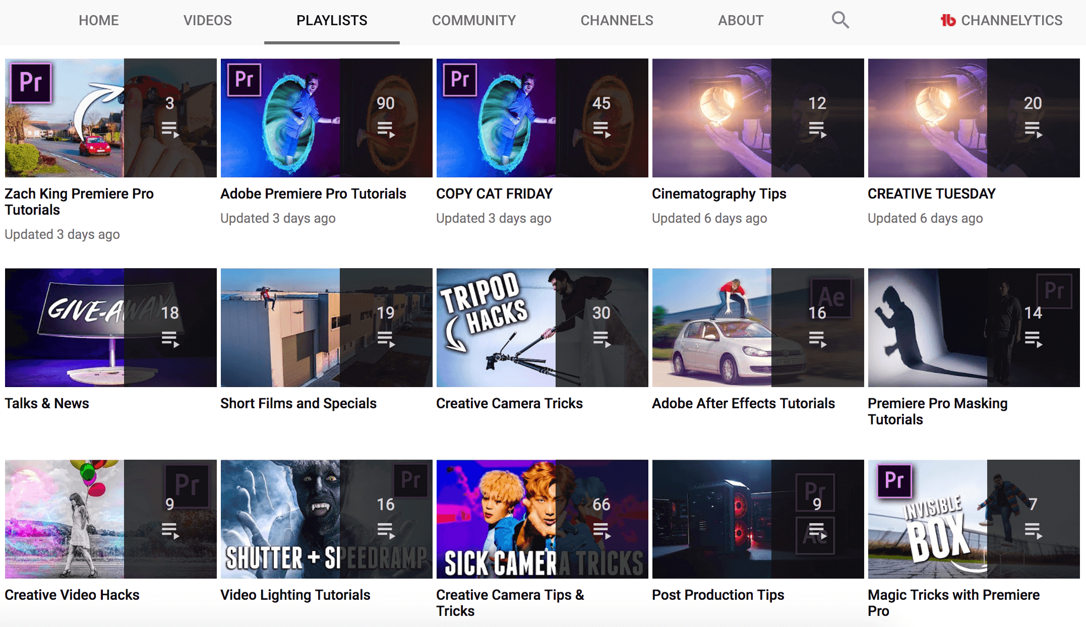 Cinecom playlists