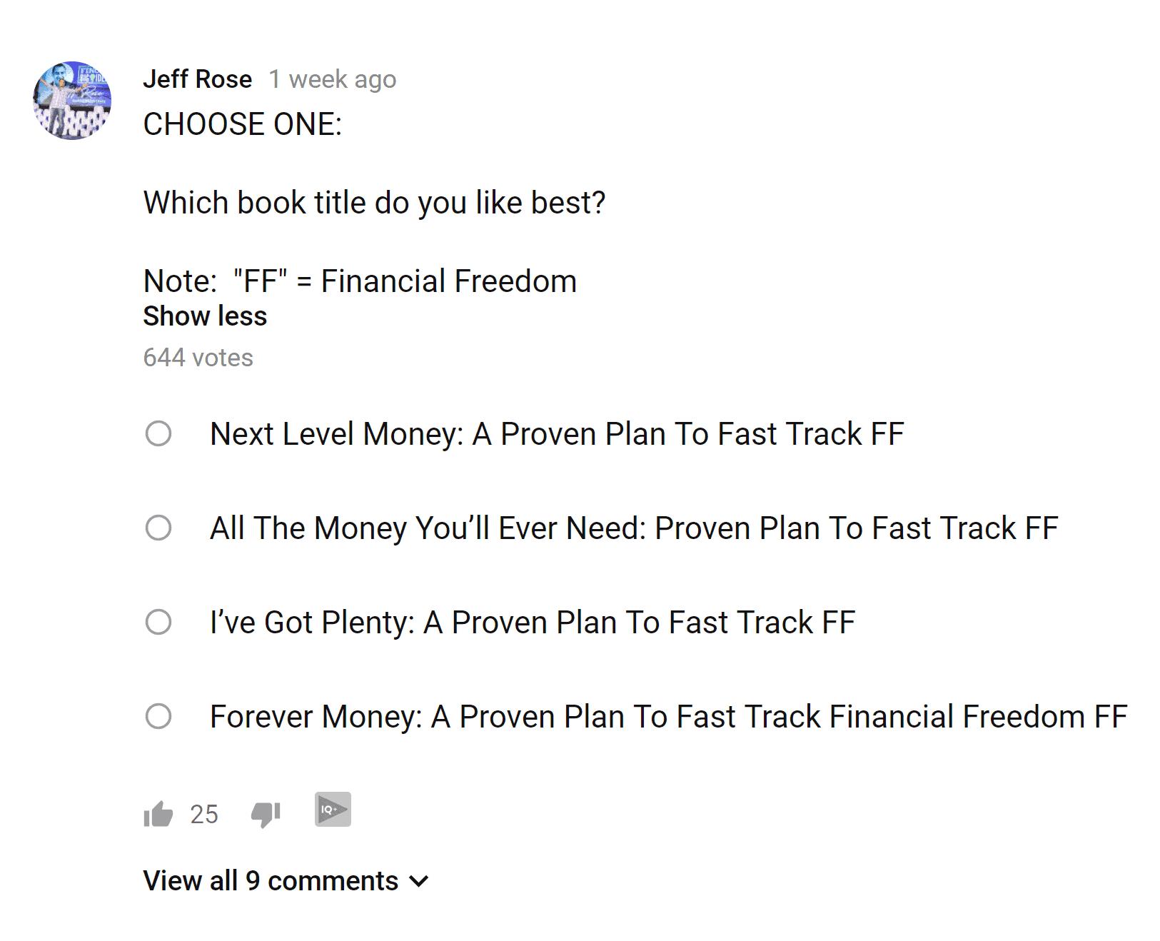 Jeff Rose poll
