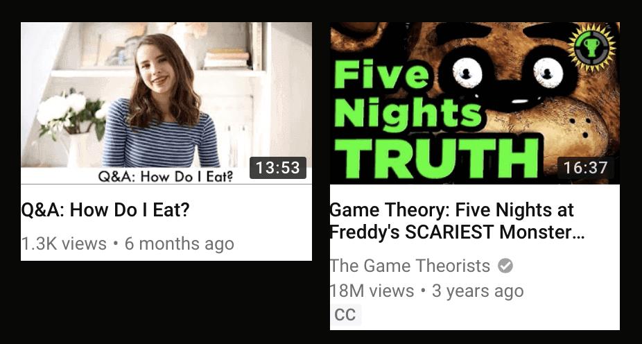 Thumbnail comparison