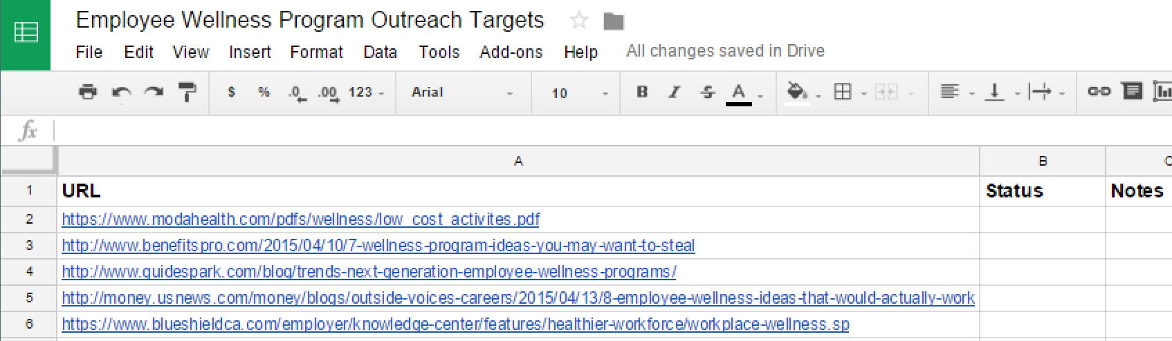 Emil's spreadsheet