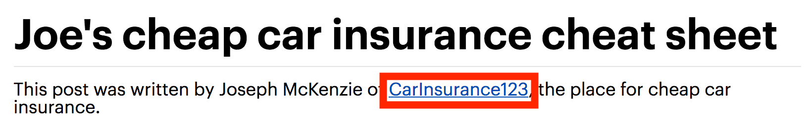 Branded anchor text