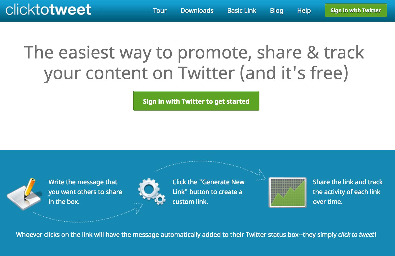 Click to tweet – Website