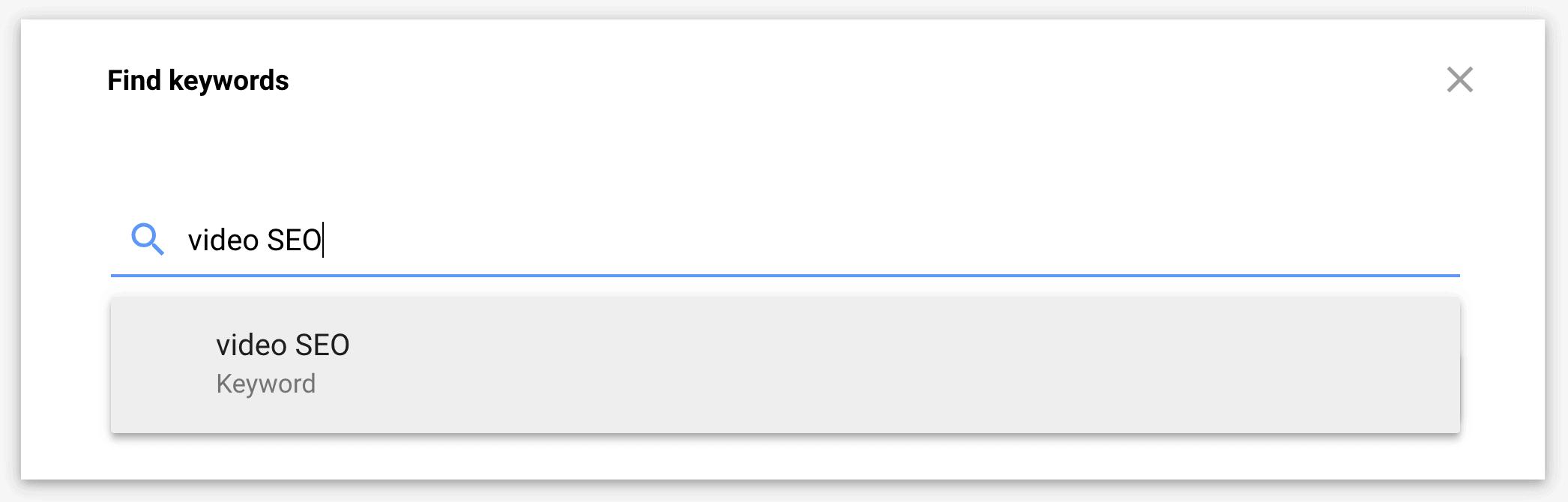 Google Keyword Planner – Enter phrase