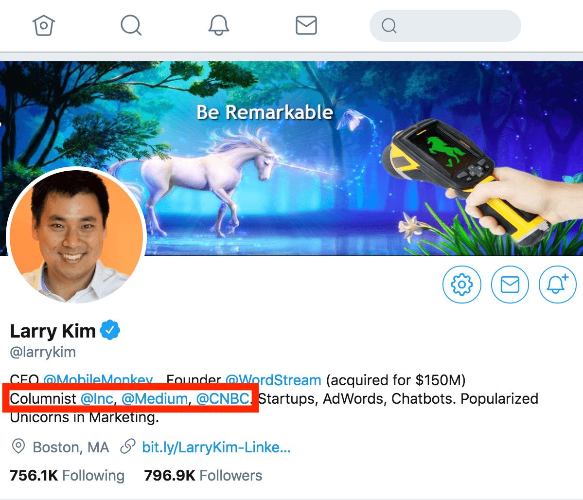 Larry Kim – Twitter