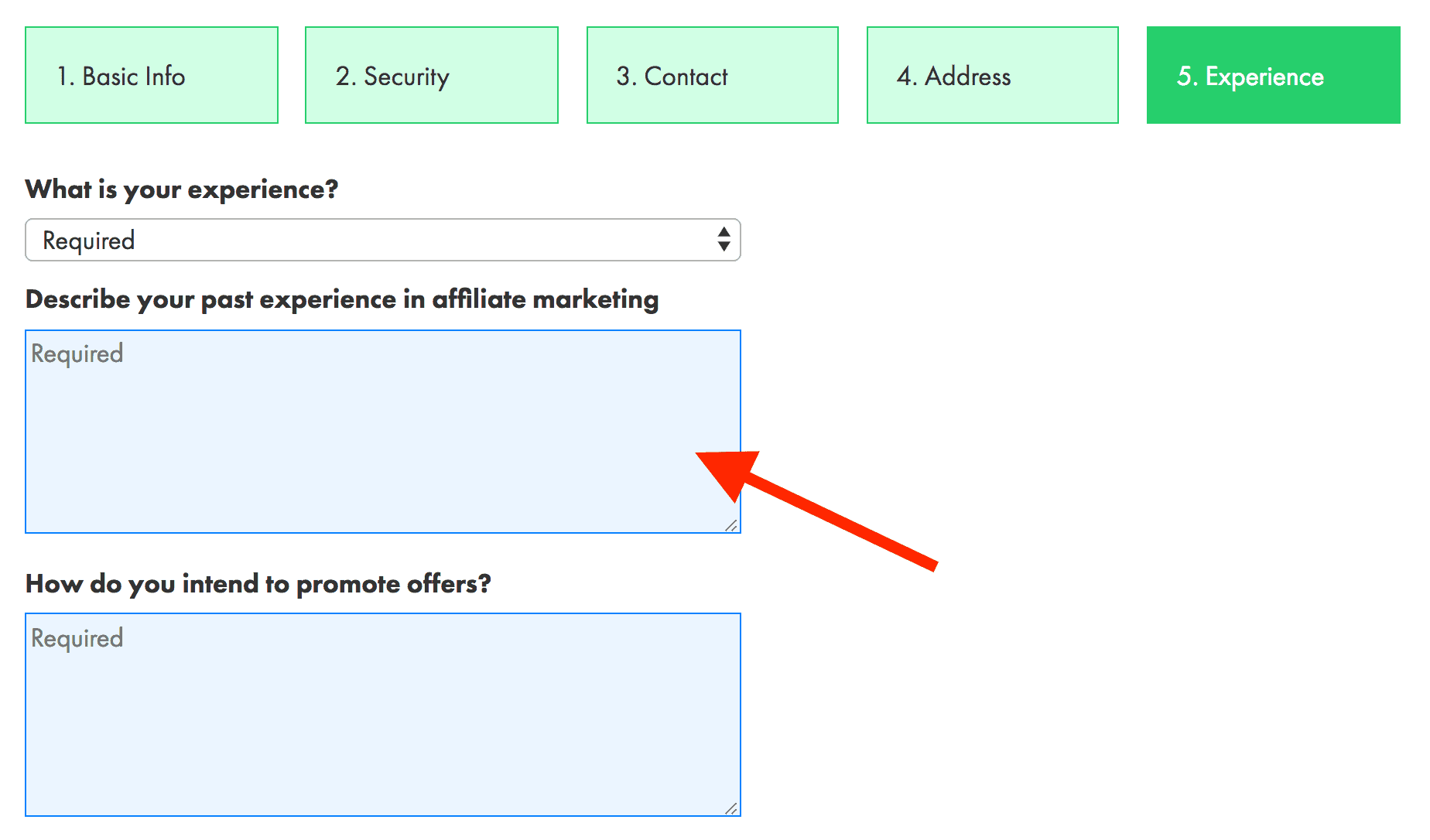 MaxBounty application – Experience