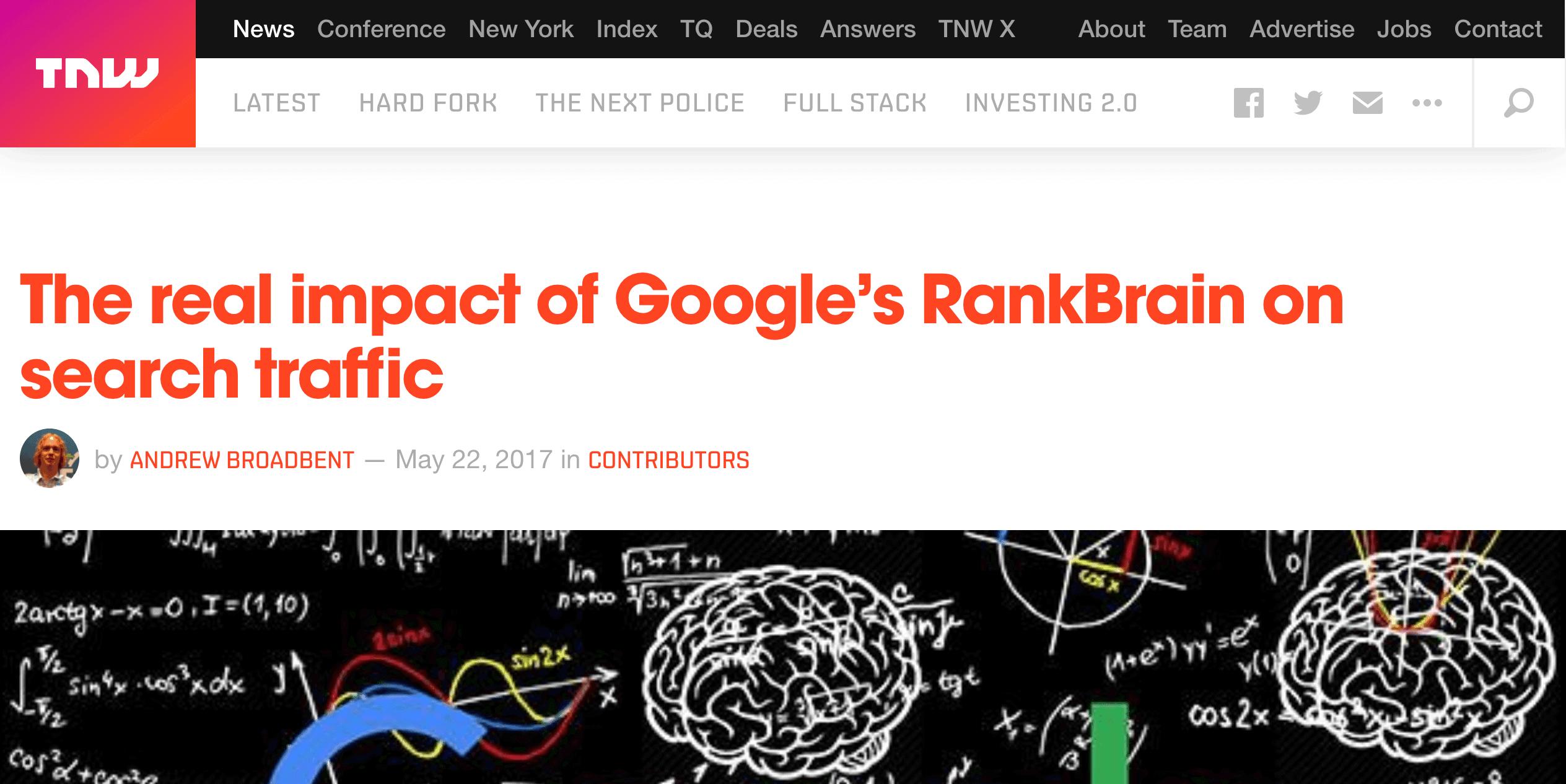 RankBrain article