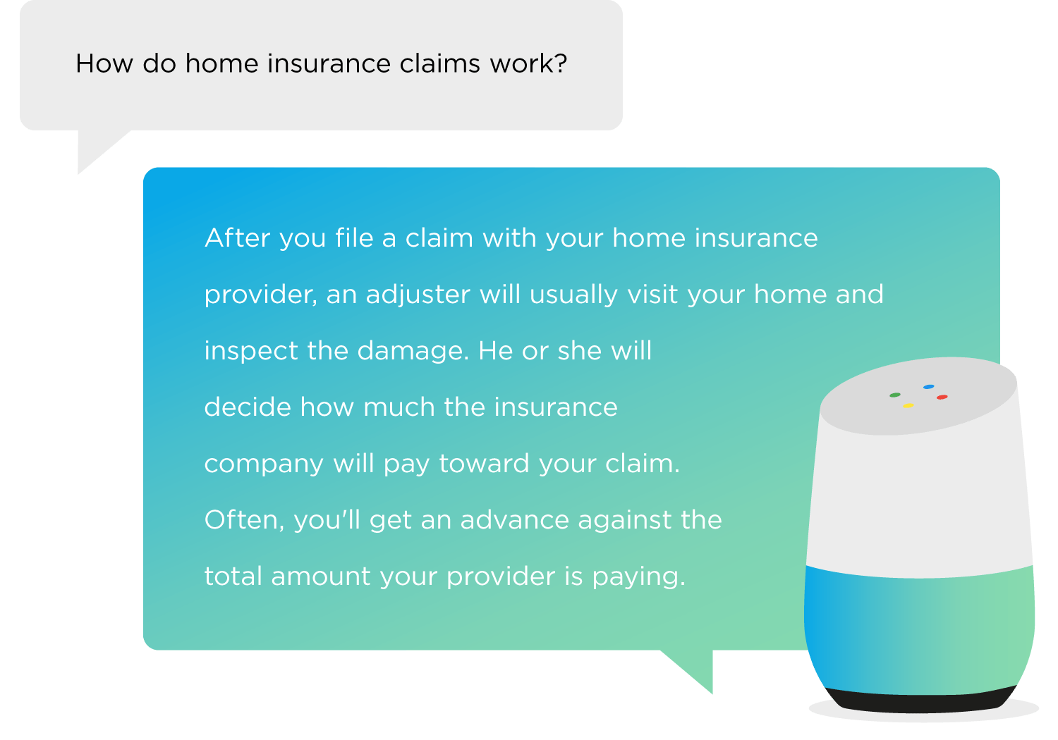 How do home insurance claims work?