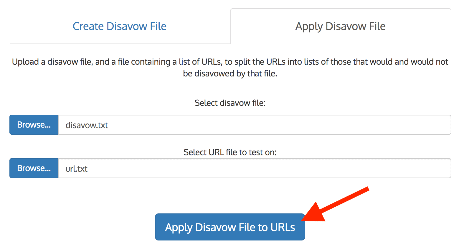 Disavow.it – Apply file