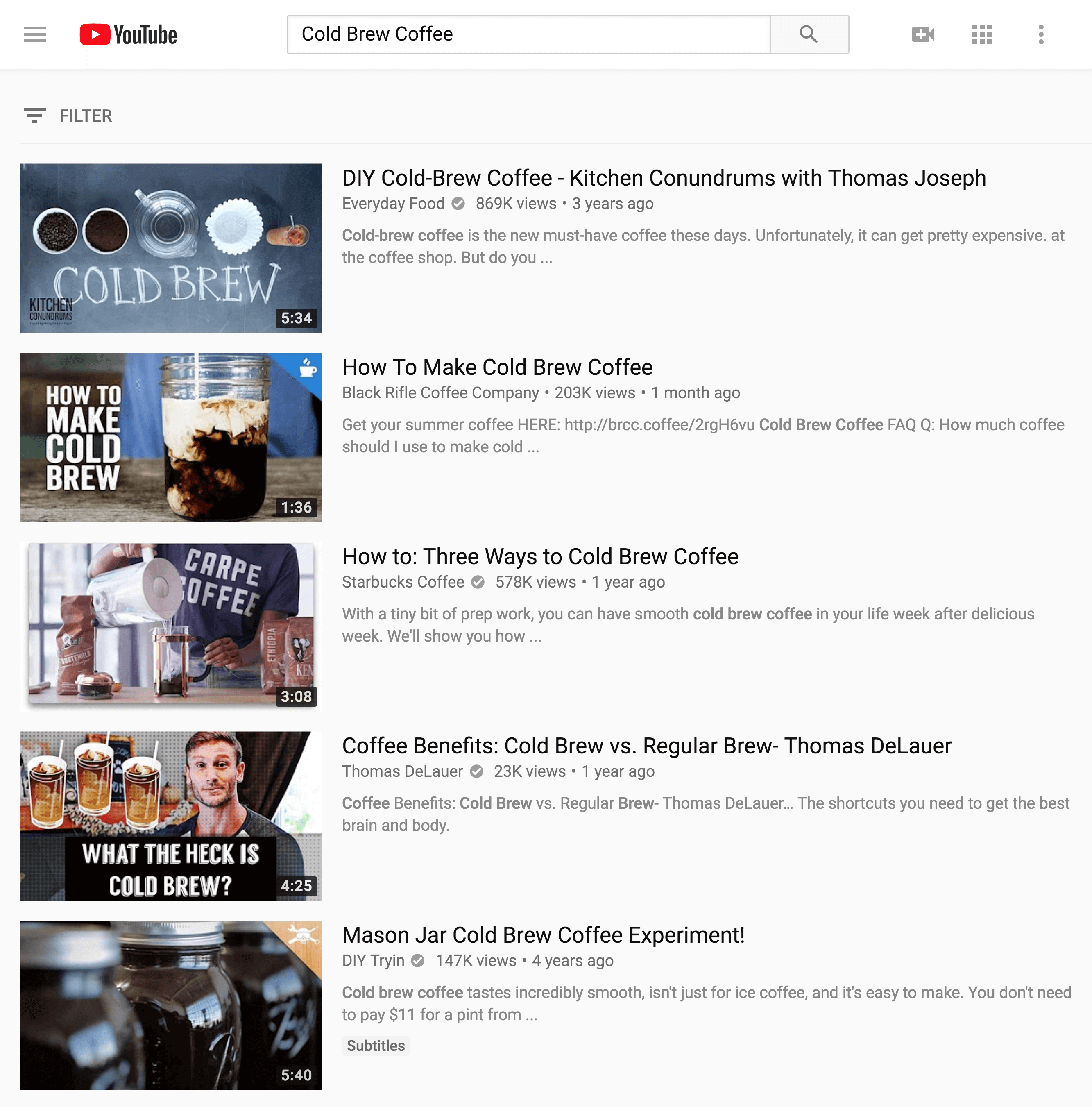 YouTube search
