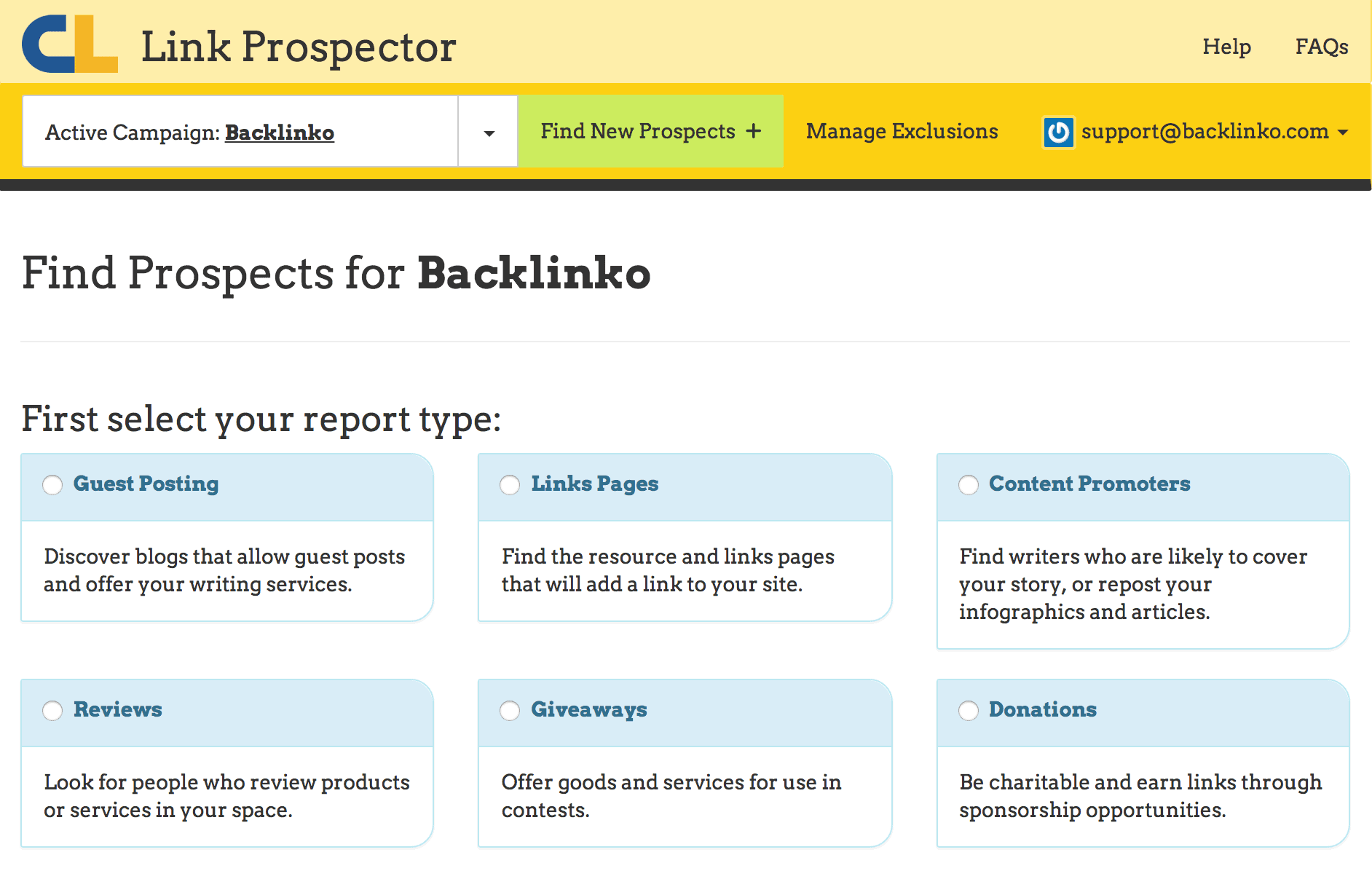 Link Prospector – Search strings