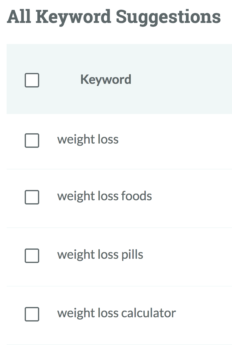 "Moz – ""weight loss"" search"