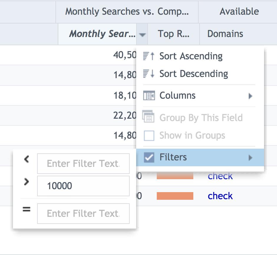 SECockpit – Filters
