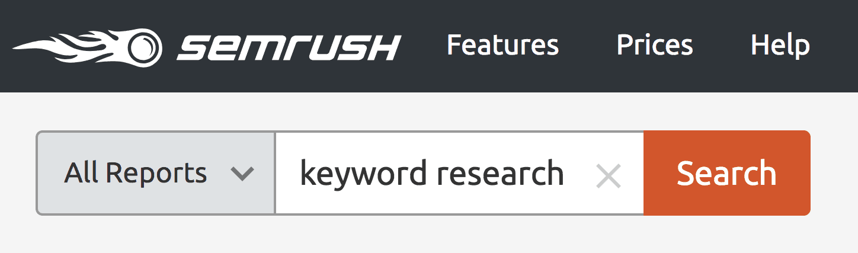 SEMRush – Keyword search