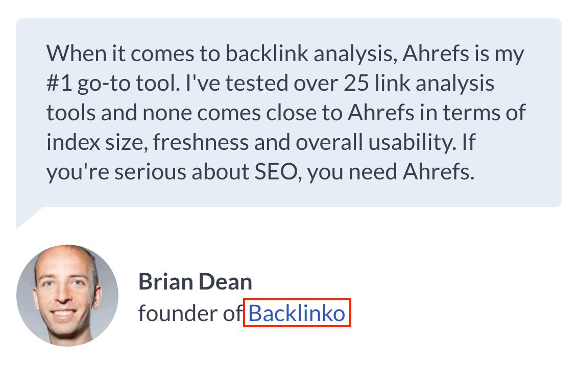 Ahrefs backlink