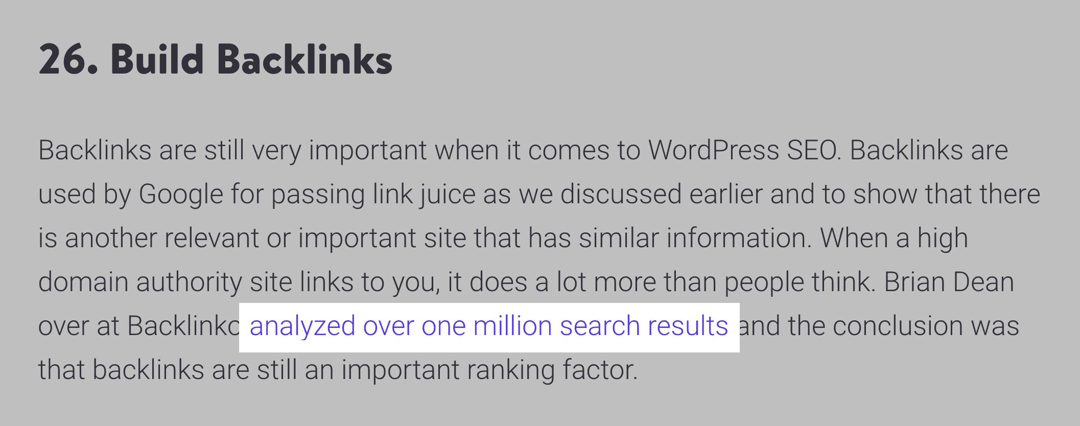 Ahrefs – Backlinks to Google Ranking Factors study