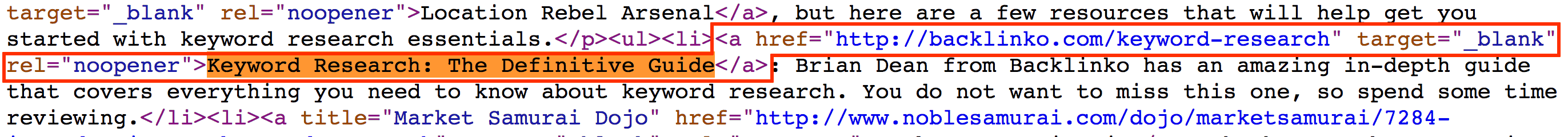 Find link in page's HTML